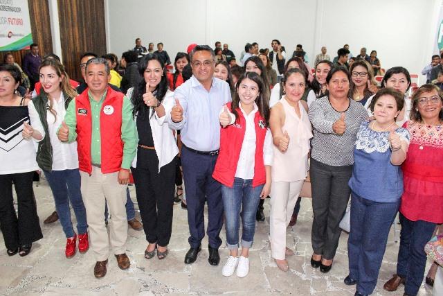 Toma protesta coordinación de mujeres del MT en Tlaxcala