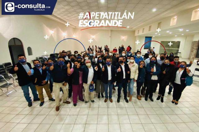 Se ponen de acuerdo PAN y PRI en Apetatitlán, van juntos por la alcaldía