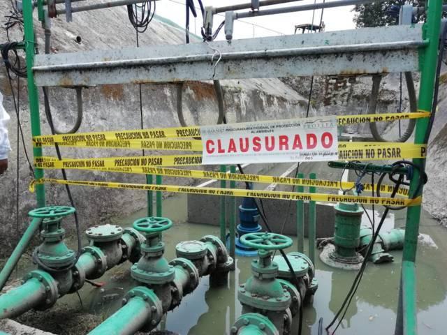 Clausura Profepa planta de tratamiento de aguas residuales Atlamaxac