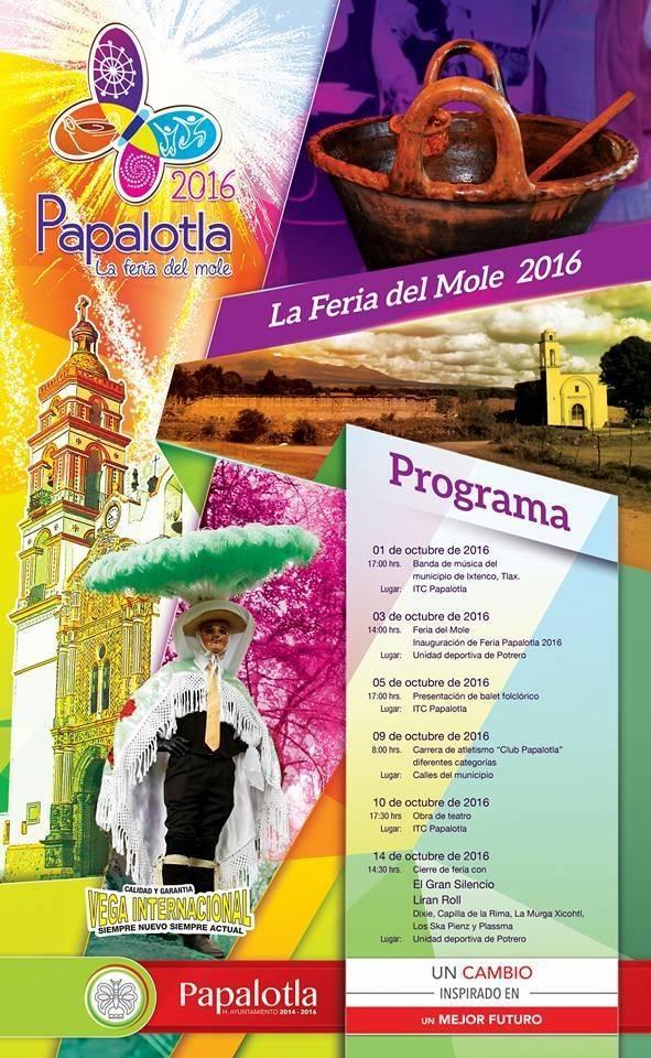 Inician actividades de la Feria del Mole 2016 en Papalotla
