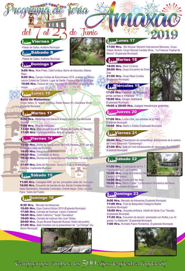 Carin Molina alista la feria Amaxac 2019 del 7 al 23 de junio