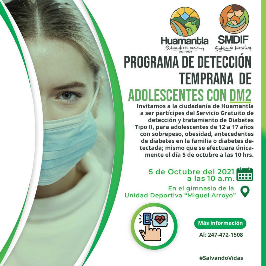 El DIF municipal de Huamantla invita a jornadas de detección de diabetes
