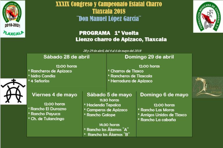Listo el calendario para el Campeonato Estatal de Tlaxcala