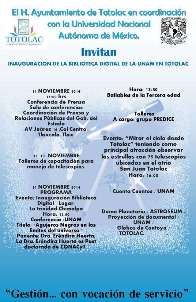 Todo listo para la apertura de la biblioteca digital de la UNAM en Totolac