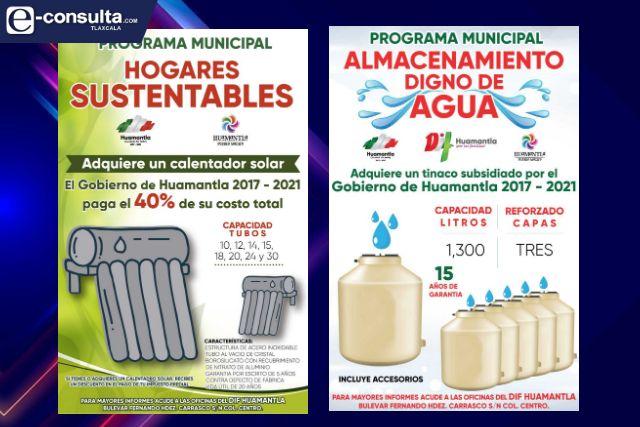 Continúa subsidio para adquirir calentadores solares y tinacos tipo rotoplas en Huamantla