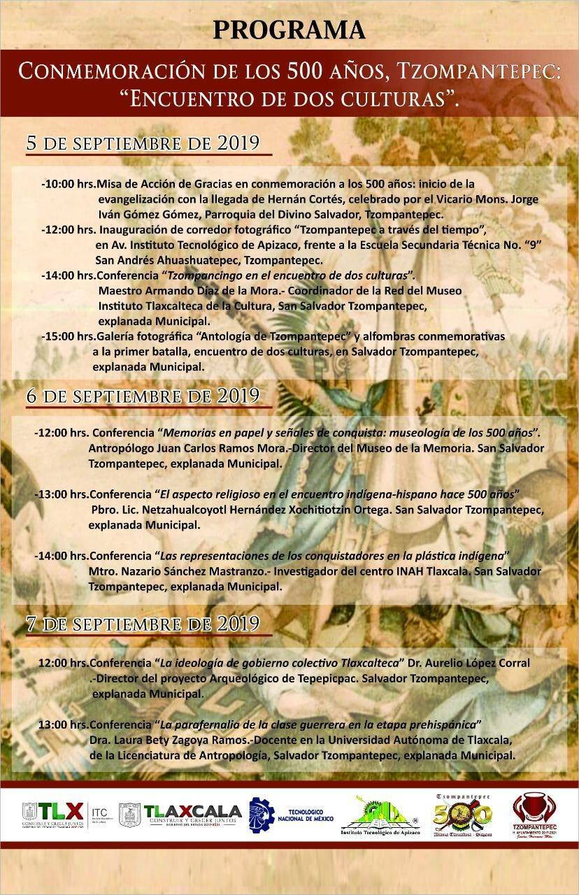 Realizará Tzompantepec Celebración 500 años de mestizaje
