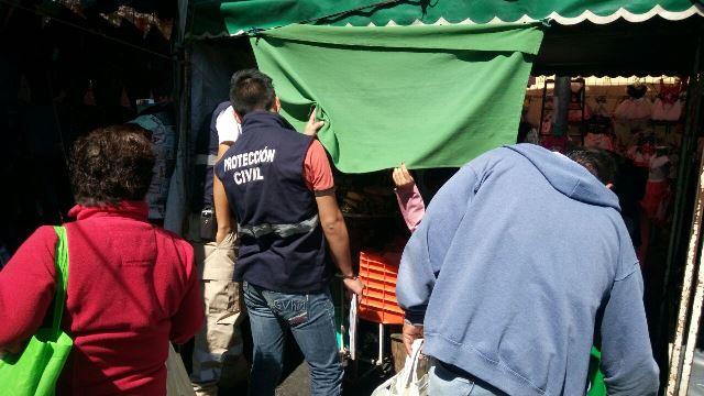 Realiza Protección Civil de Tlaxcala operativo en tianguis sabatino