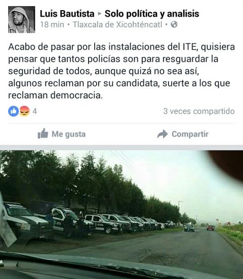 La gente reclama democracia y repudia a Mena