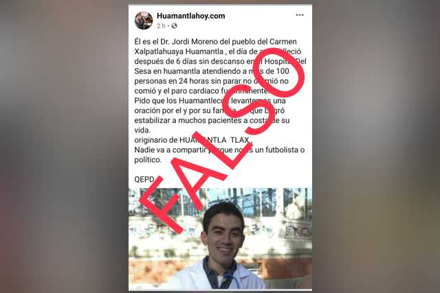 Perfil de Facebook Huamantlahoy.com, difunde noticias carentes de veracidad