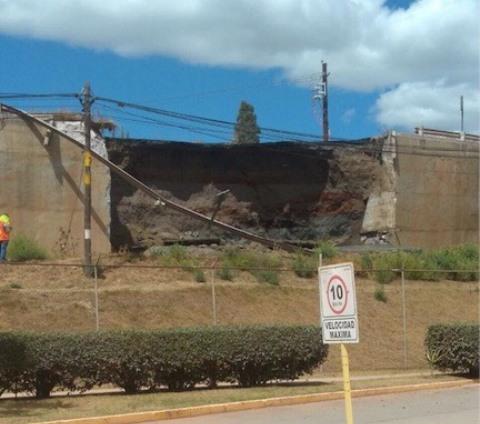 Por socavón, cierran carretera San Martín Texmelucan en Tlaxcala