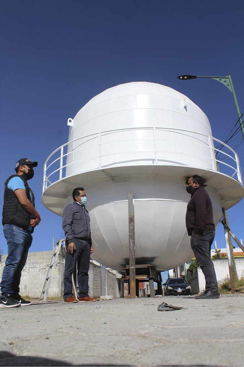 Avanza obra del tanque elevado de Tlaltepango