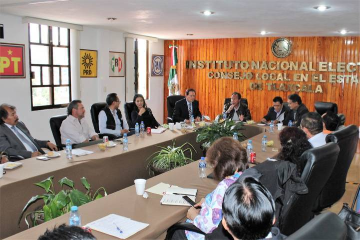 Evaluó INE Tlaxcala actuación durante el PEF 2017-2018