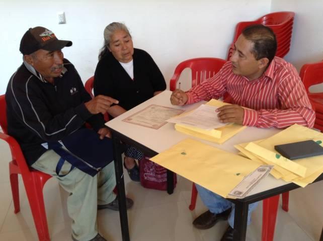 Exitosa respuesta en campaña de Testamento Agrario en Xicohtzinco