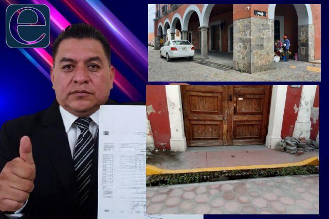 No para  la rapiña del Presidente Eloy Reyes en Apetatitlán