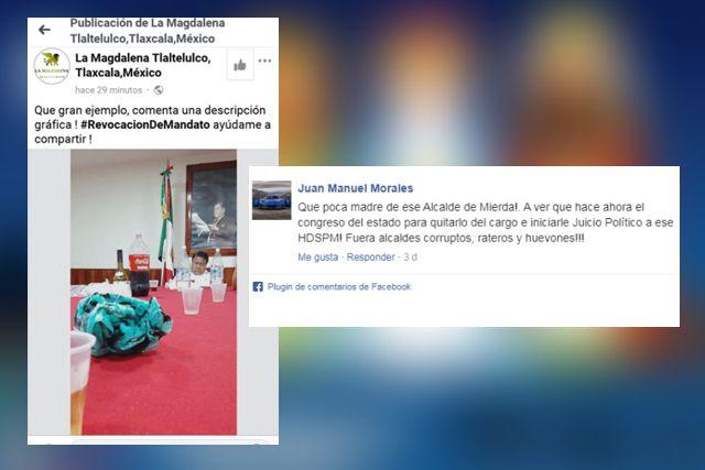 Piden la destitución del alcalde de Tlaltelulco por borracho y cínico
