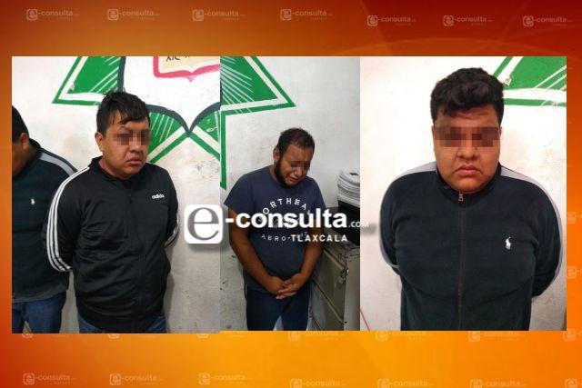 Logra Policía de Xicohtzinco detención de 6 presuntos ladrones