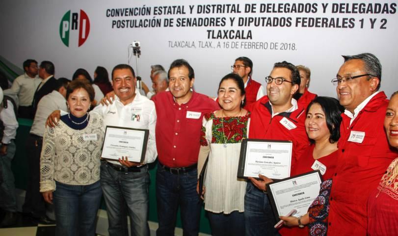 Ratifica PRI candidaturas al Senado y las diputaciones federales