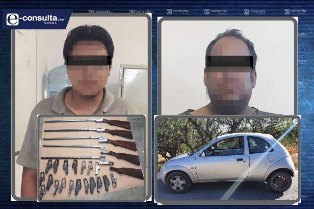 La SSC asegura a dos personas por la portación ilegal de objetos para fabricar arma de fuego
