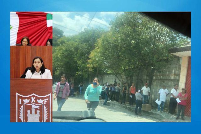 Diputada Rayito aglutina gente en Apetatitlán y el amoroso lo tolera