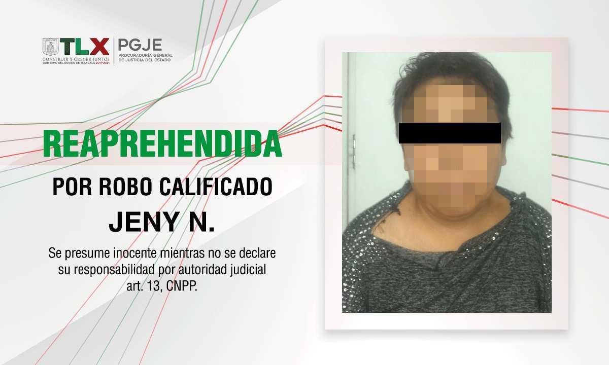 Detienen en Tlaxcala a ladrona que era buscada en el Estado de México