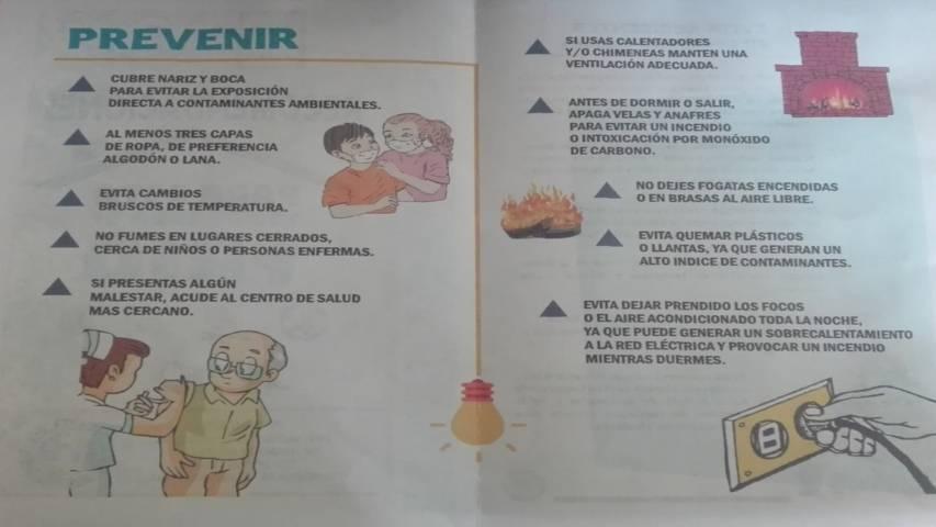 Emite PC Lardizábal recomendaciones por temporada invernal
