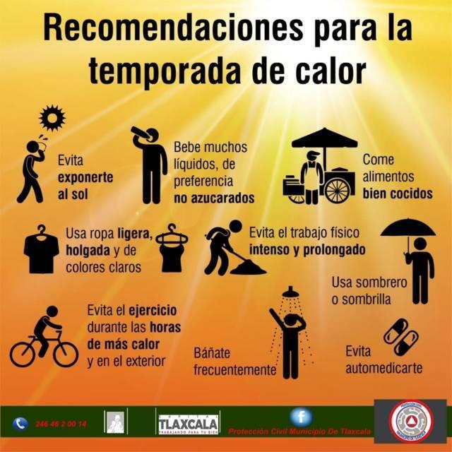 Emite Protección Civil recomendaciones por temporada de calor en la capital