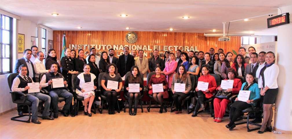 Reconoce INE labor de oficiales del registro civil de Tlaxcala