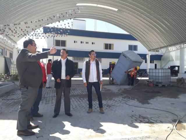 Alcalde supervisa trabajos de rehabilitación en seguridad pública y PC municipal