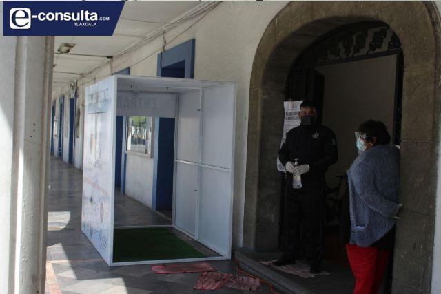 Instalan 4 modelos de desinfección Covid-19 en San Pablo Del Monte