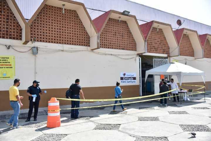 Refuerzan acciones preventivas en mercado municipal de Tlaxcala