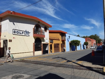 Rehabilitan fachadas en calles Morelos y Xicohténcatl de la capital