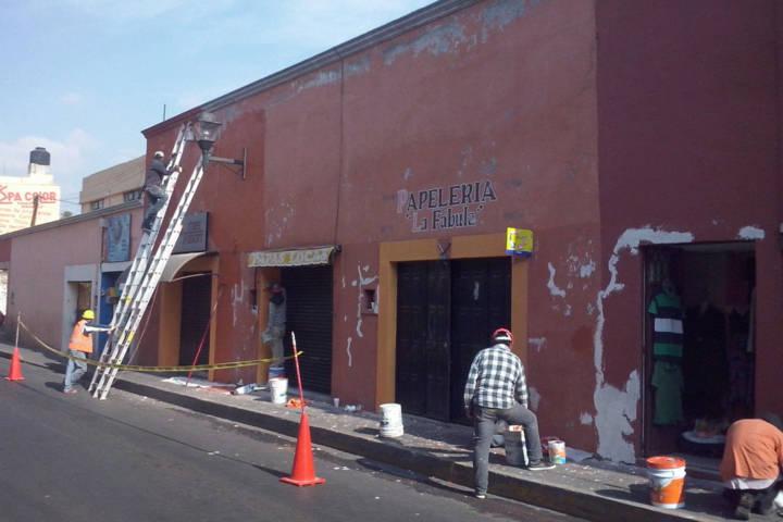 Continúa ayuntamiento de Tlaxcala con rehabilitación de fachadas en el centro histórico