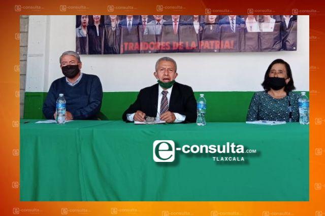 Le exigen a AMLO que en su visita a Tlaxcala ponga orden en el Congreso local