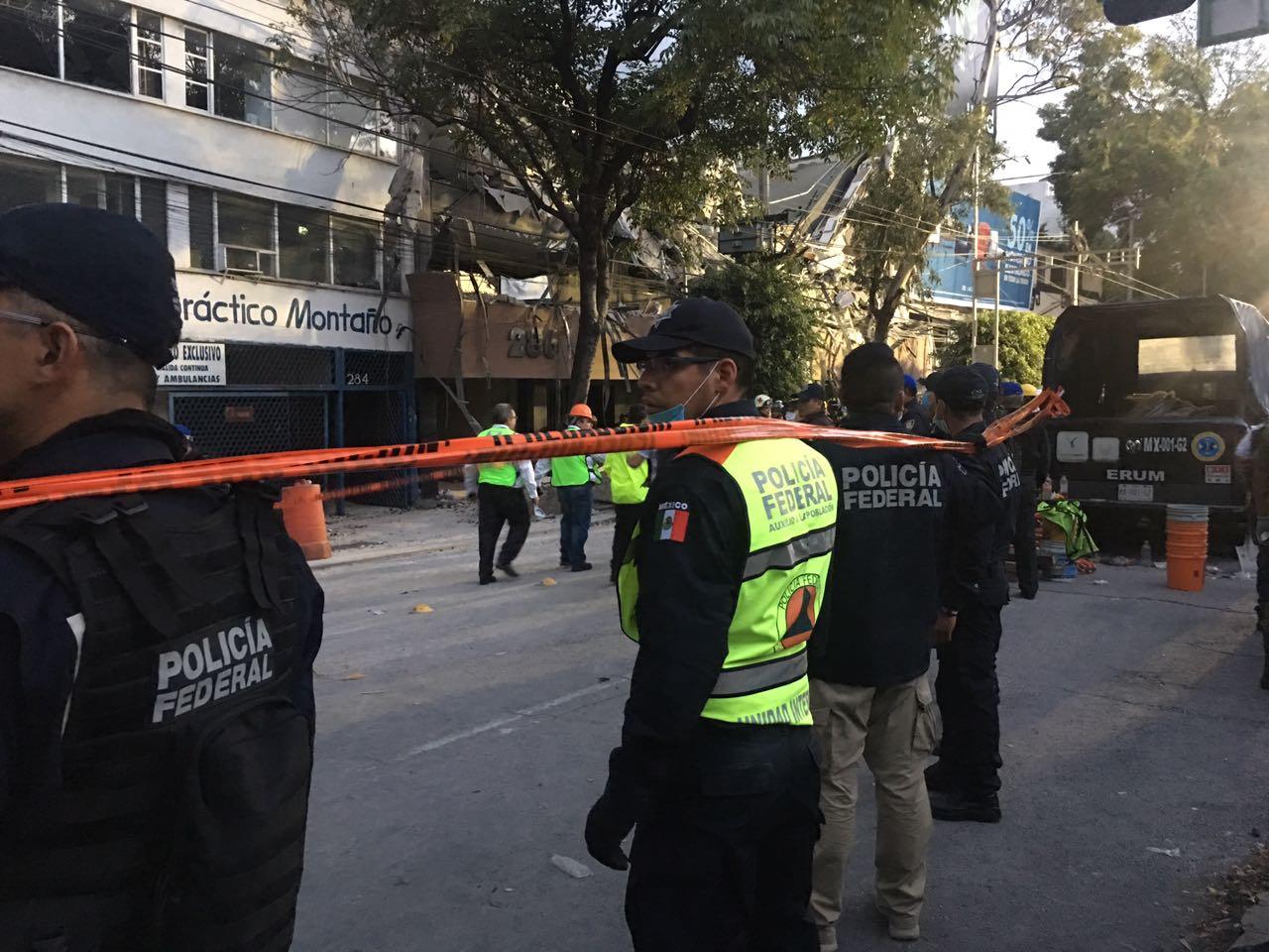 Han sido rescatadas ocho personas en predios derrumbados en CDMX