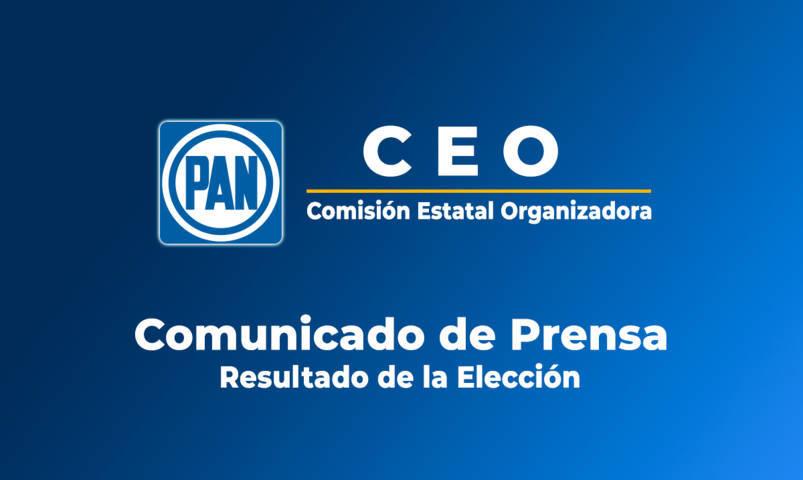 Publican resultados de elección para renovación del CDE del PAN en Tlaxcala