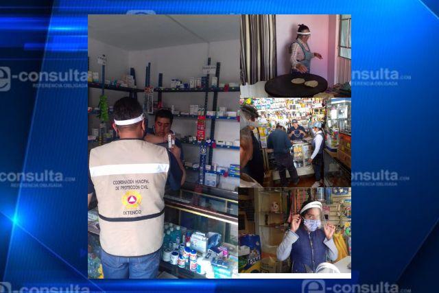 Entrega Ayuntamiento caretas de protección a comerciantes fijos, semifijos y ambulantes