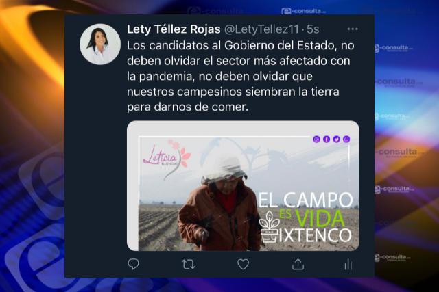 Pide Leticia Téllez a candidatos no olvidar propuestas para el campo