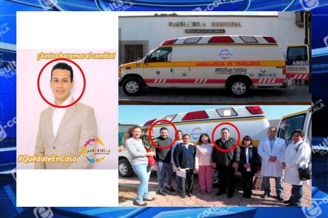 Se pierde la ambulancia de Apetatitlán adquirida por el Amoroso