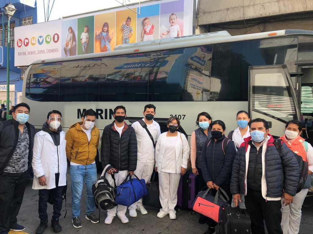 Apoya SESA con personal médico al INSABI en combate a Covid-19