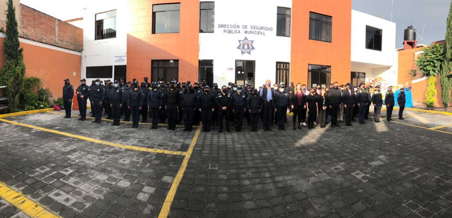 Encabezan autoridades correspondientes reunión con elementos de la policía capitalina