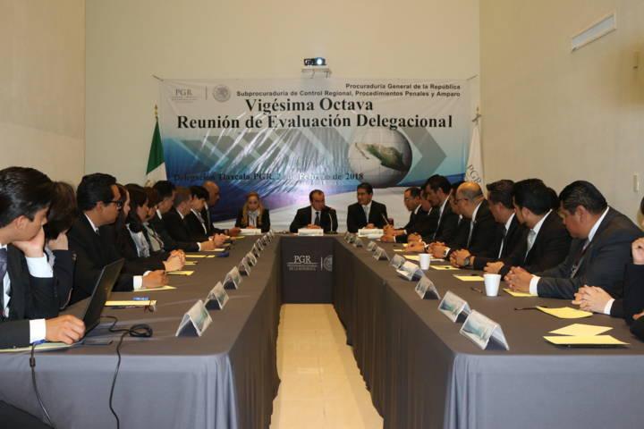 PGR Tlaxcala realiza Vigésima Octava Reunión de Evaluación Delegacional