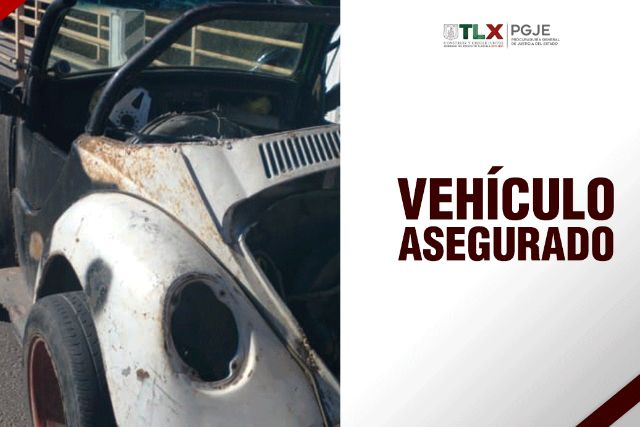 Recupera PGJE vehículo con reporte de robo y asegura a imputado