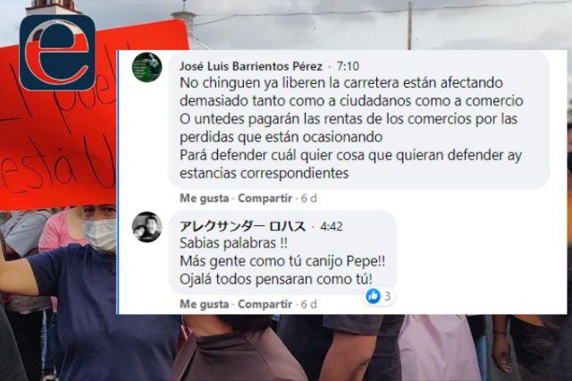 Xicohtzinco se harta de políticos inconformes, piden reapertura de carretera