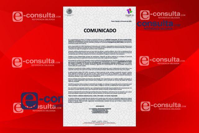 Queda suspendida la Feria del Queso,La Madera y el Pulque 2020 en Tlaxco