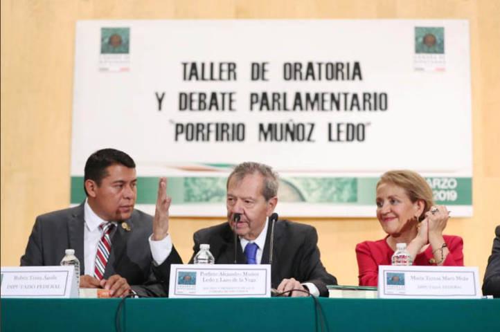 Concluye Taller de Oratoria y Debate Parlamentario en homenaje a Porfirio Muñoz Ledo