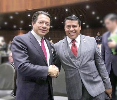 Terán se la juega con Mario Delgado para la dirigencia de Morena