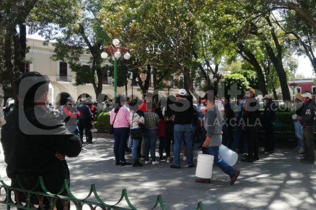 Pobladores de Santa Apolonia Teacalco reportan carencias y piden apoyo