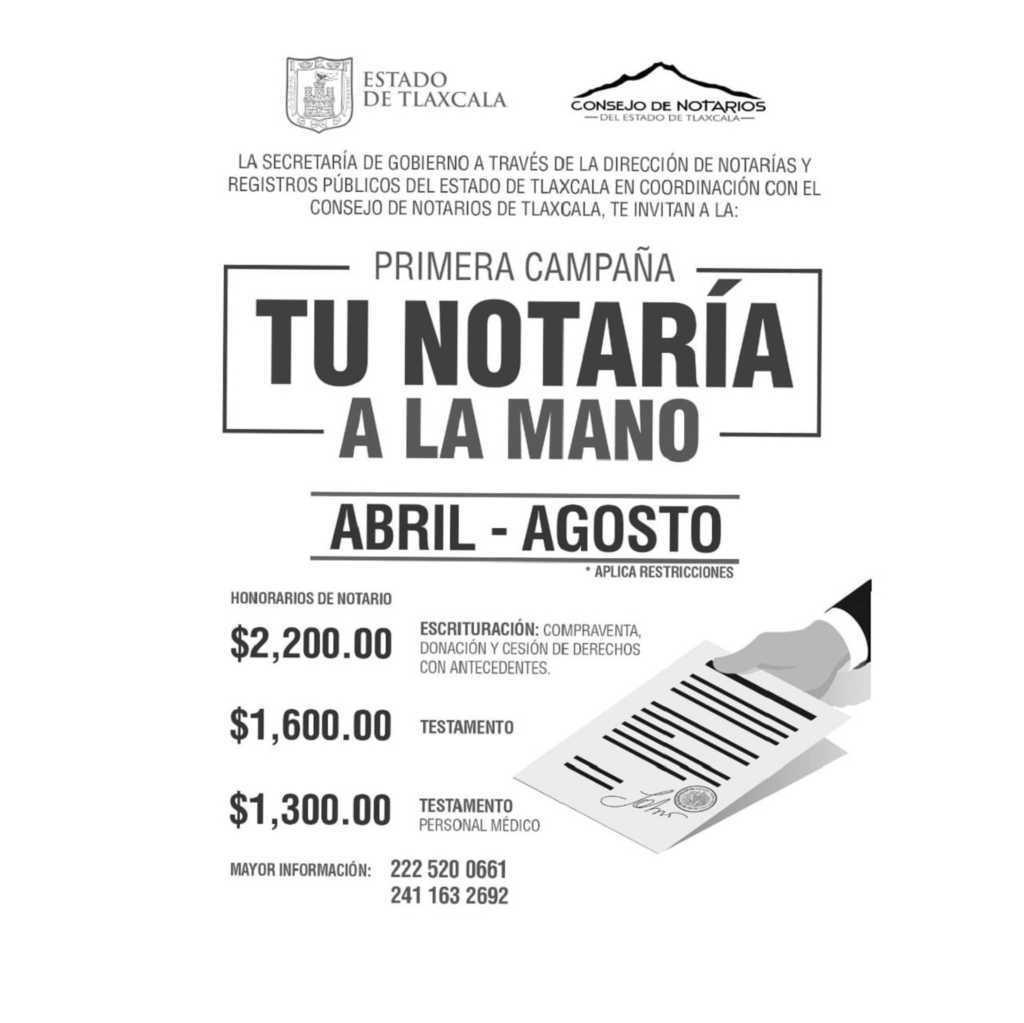 Firman SEGOB y Colegio de Notarios del Estado de Tlaxcala convenio de colaboración
