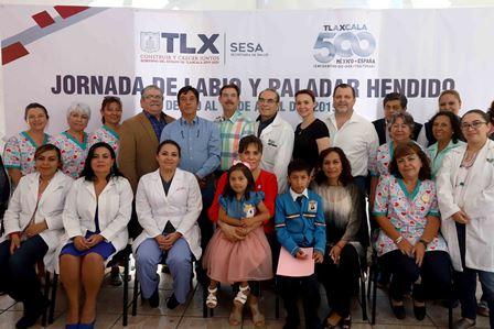 Sandra Chávez clausura jornada de labio y paladar hendido