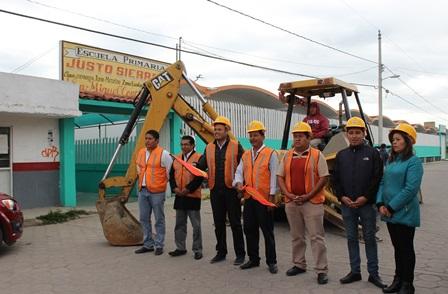 Inicia segunda etapa de drenaje en San Miguel Contla